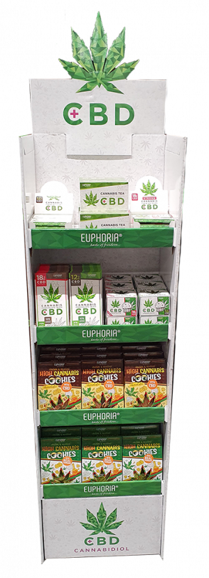 Euphoria Display Stand CBD Big