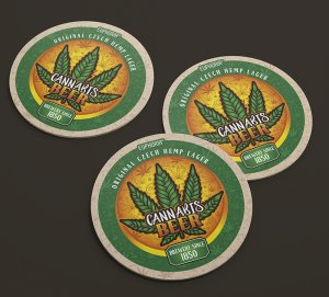 Cannabis Beer Coasters