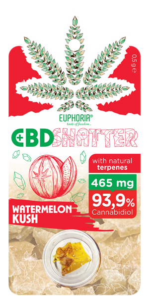 Watermelon Kush 465 mg CBD Shatter