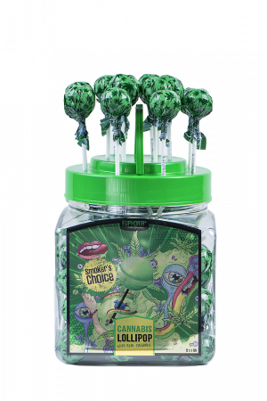 Cannabis Lollipops Jar