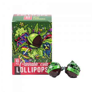 Cannabis Cola Lollipops Box (10 pcs)