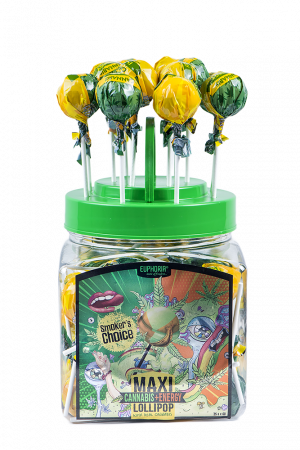 Cannabis Energy Maxi Lollipops Jar
