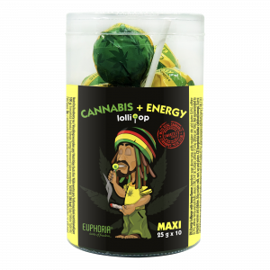 Cannabis Energy Maxi Lollipops Tube
