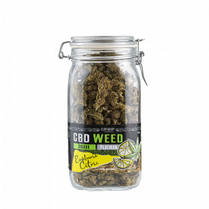 CBD Flowers Glass Jar - Euphoria Citric
