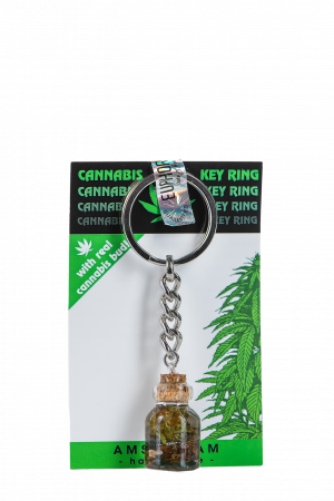 Key Ring With Cannabis