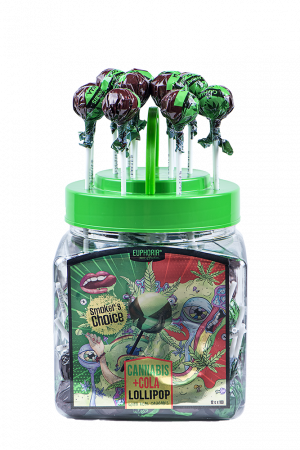 Cannabis Cola Lollipops Jar