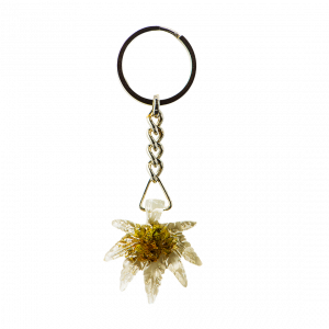 Cannabis Leaf Key Ring With Cannabis