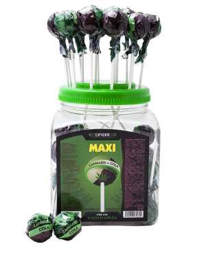 Cannabis Cola Maxi Lollipops Jar