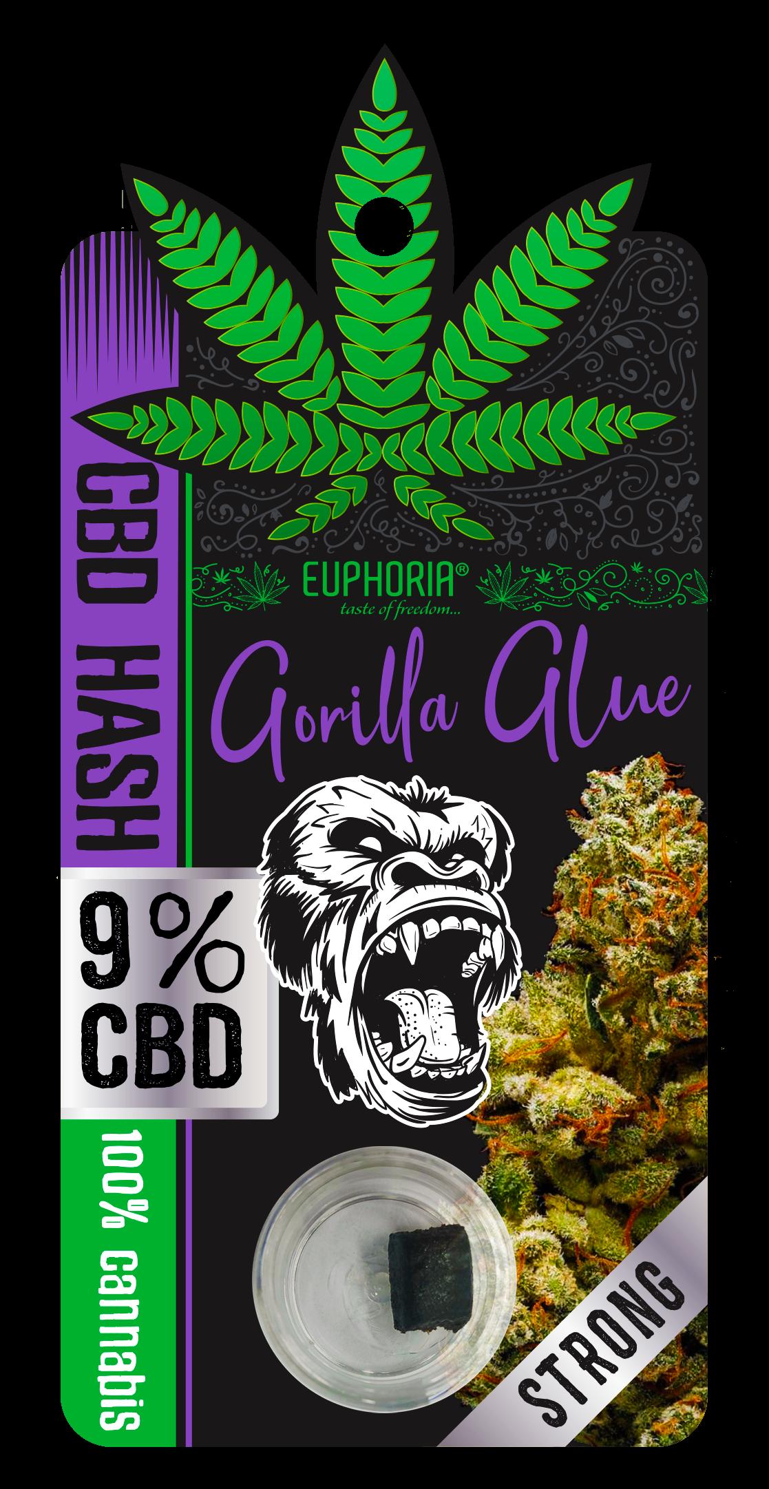CBD Hash 9% Gorilla Glue | EUPHORIA - Cannabis Food & Drinks